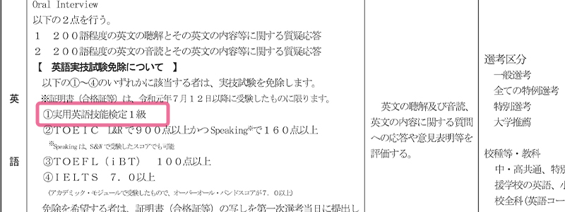 令和2年度東京都公立学校教員採用候補者選考(3年度採用)実施要綱より引用